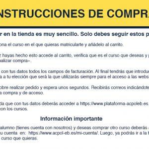 Información para la compra de cursos